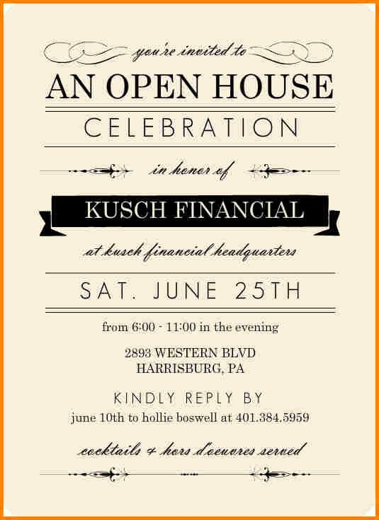 Open House Invitation Template Free Luxury Open House Invite Templates