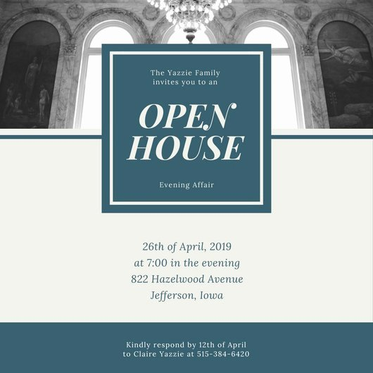 Open House Invitation Template Free New Customize 498 Open House Invitation Templates Online Canva