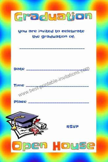 Open House Invitation Template Free Unique Free Graduation Invitations Open House Invites