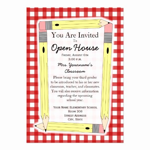 "Open House Invitation Templates Free Best Of Back to School Open House Invitation 5"" X 7"" Invitation Card"
