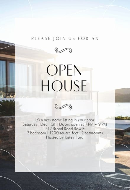 Open House Invitation Templates Free Best Of Open House Invitation Templates Free