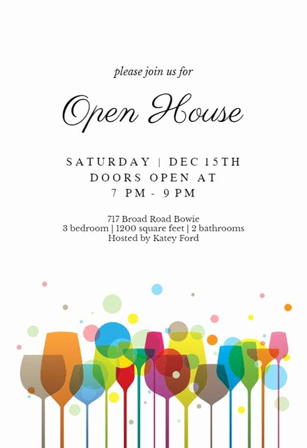 Open House Invitation Templates Free Inspirational Ambience Open House Invitation Template Free