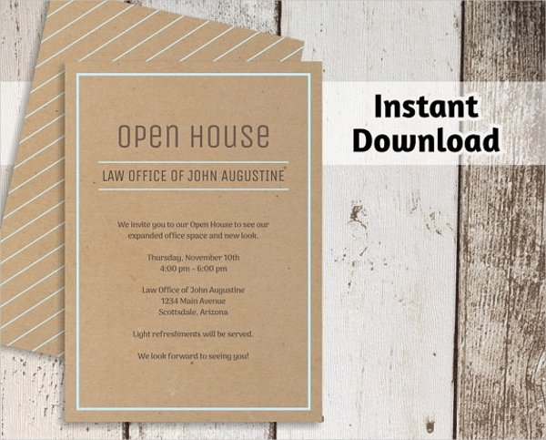 Open House Invitation Templates Free Lovely 34 Invitation Templates Word Psd Ai Eps