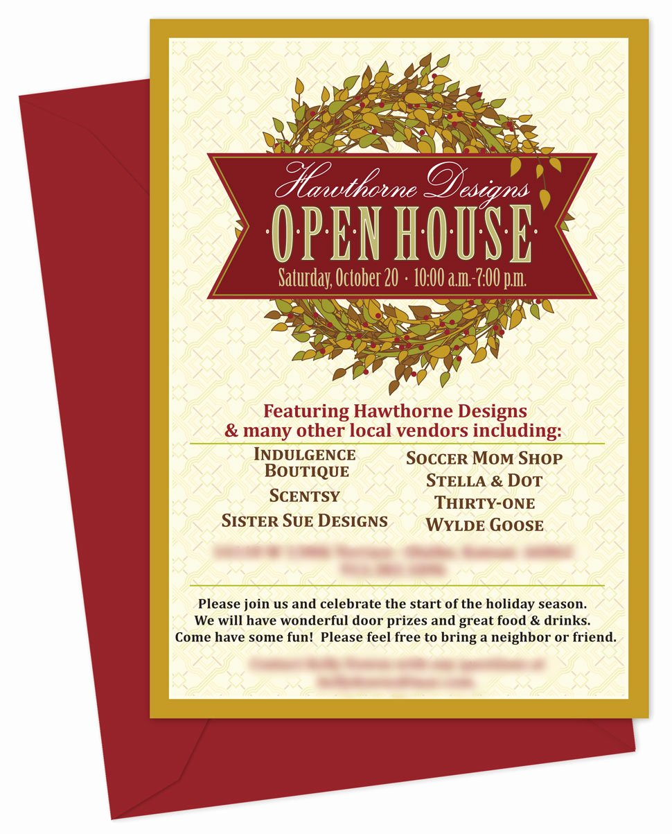 Open House Invitation Templates Free New Inventiveinvites Fall Wreath Open House Invitation