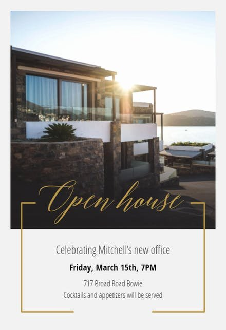 Open House Invitation Templates Free New Open House Invitation Templates Free