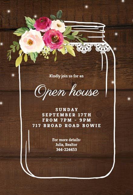Open House Invitation Templates Free Unique Open House Invitation Templates Free
