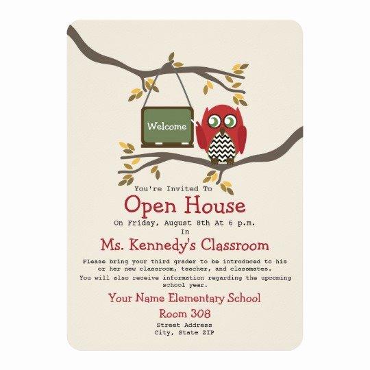 Open House Invitation Templates Free Unique Owl Back to School Classroom Open House Invite