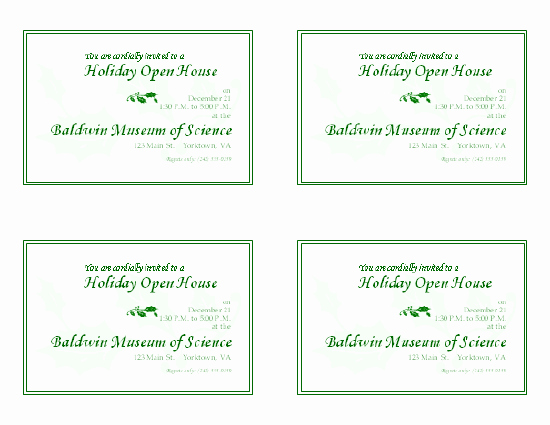 Open House Invitations Templates Awesome Download Free Printable Invitations Of Holiday Open House Invitation