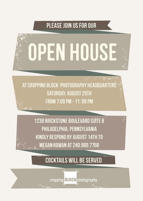 Open House Invitations Templates Elegant Business Open House Invitation Template