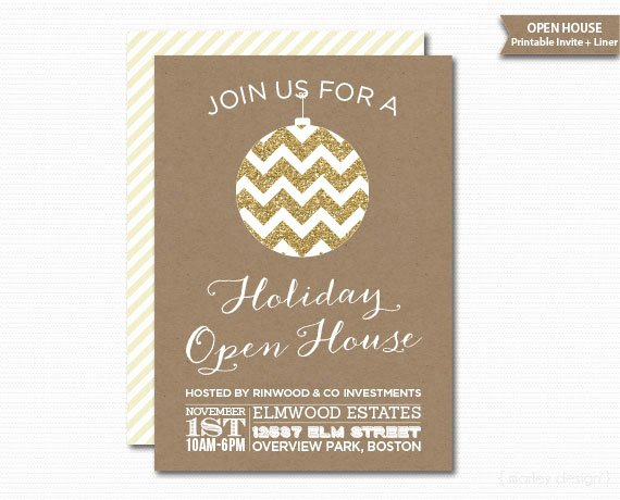 Open House Invitations Templates Fresh Pany Open House Invitation Printable Christmas Invitation