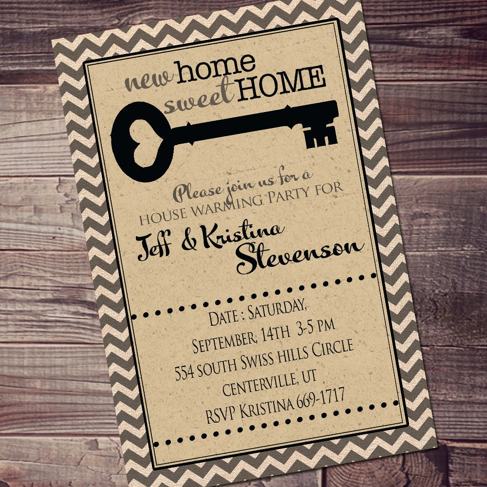 Open House Invitations Templates Unique Cute House Warming Invitation Chevron Open House Invitation