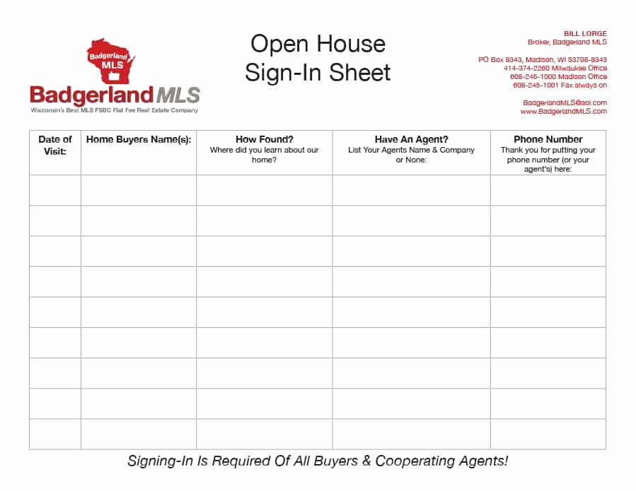 Open House Sign In Sheet Inspirational 30 Open House Sign In Sheet [pdf Word Excel] for Real Estate Agent