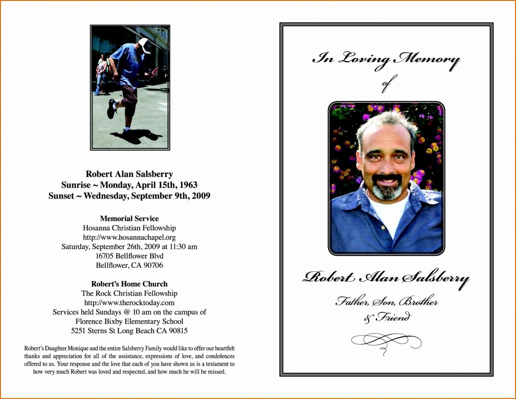 Order Of Service Template Elegant Funeral order Service Template