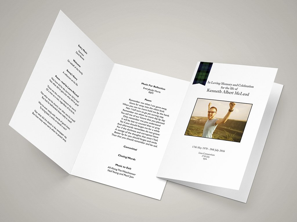 Order Of Service Template Fresh Funeral order Of Service Templates and Printing Next Day