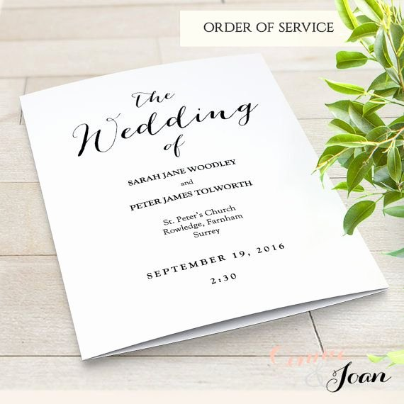 Order Of Service Template Luxury Best 25 Wedding Program Template Word Ideas On Pinterest