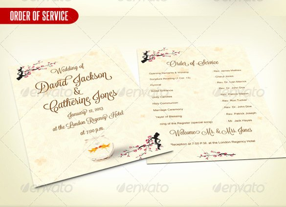 Order Of Service Template Luxury Wedding order Template – 38 Free Word Pdf Psd Vector
