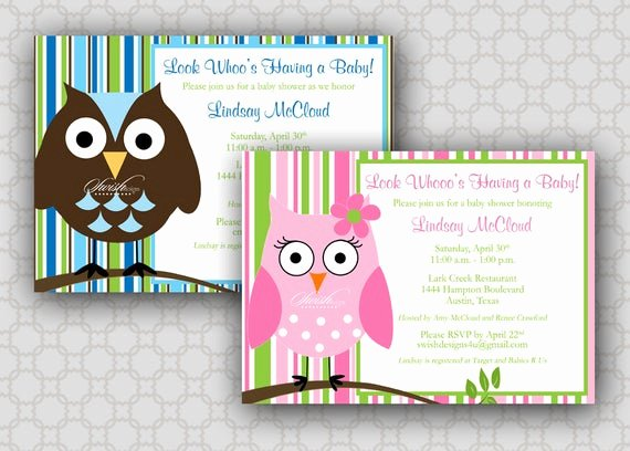 Owl Baby Shower Invitations Templates Beautiful Owl Baby Shower Invitation Look whoos Having A Baby Owl