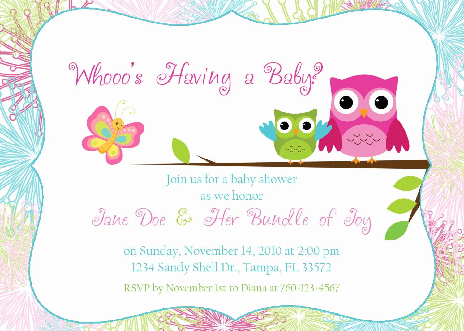 Owl Baby Shower Invitations Templates Best Of Owl Baby Shower Invitation Digital Image