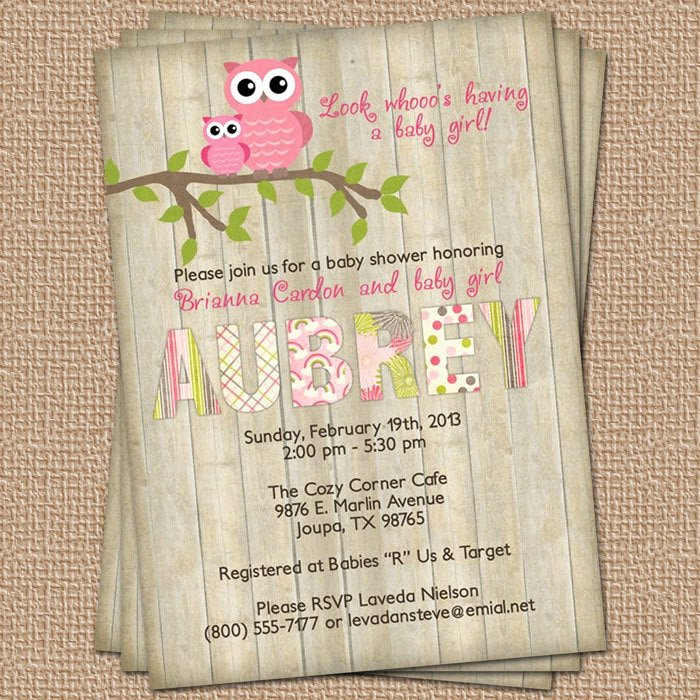 Owl Baby Shower Invitations Templates Best Of Owl Baby Shower Invitation with Wood Background Digital