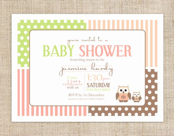 Owl Baby Shower Invitations Templates Fresh Printable Baby Shower Invitation Template Spotted Owl
