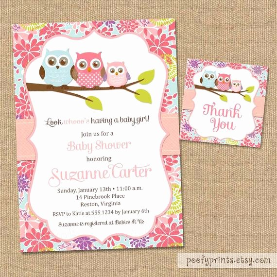 Owl Baby Shower Invitations Templates Lovely Owl Baby Shower Invitations Diy Printable Baby by Poofyprints