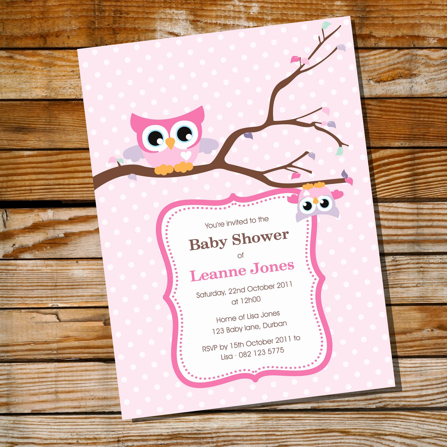 Owl Baby Shower Invitations Templates Luxury Cute Baby Owl Invitation for A Girl Baby Shower Instantly
