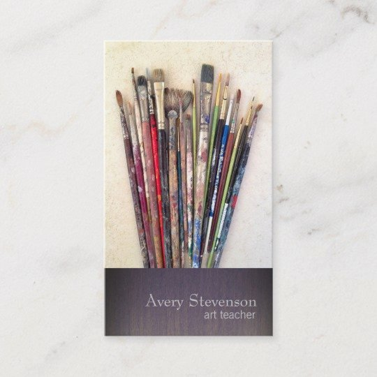 Painting Business Cards Ideas Beautiful Artist Paint Brushes Painter Business Card