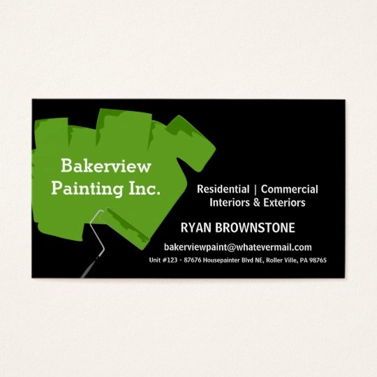 Painting Business Cards Ideas Best Of Pro Painting Pany House Painter Business Card