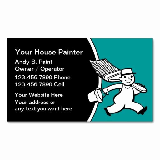 Painting Business Cards Ideas Best Of Retro Painter Business Cards Zazzle Painter Business Cards