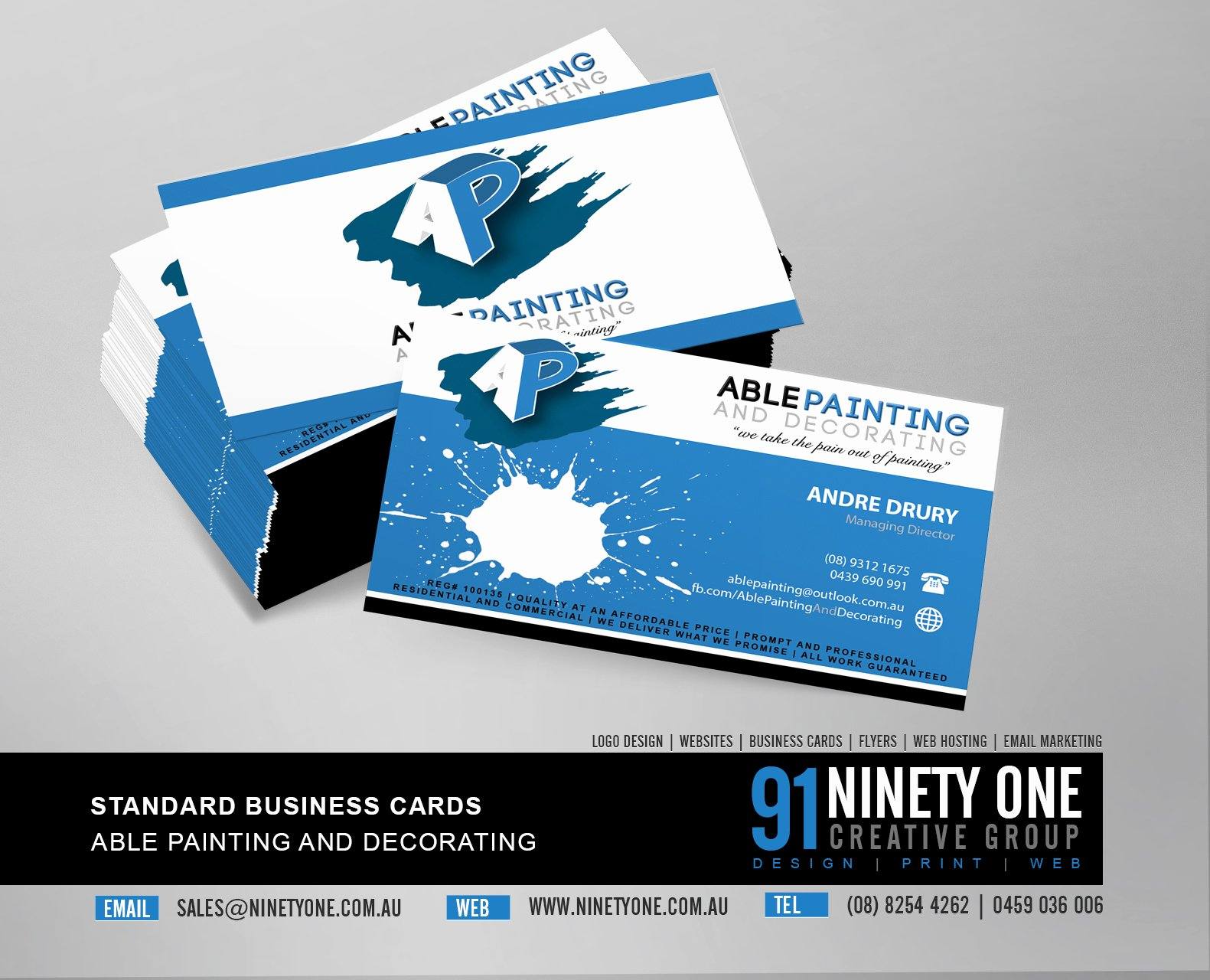 Painting Business Cards Ideas Inspirational Business Card – Ninety E Design