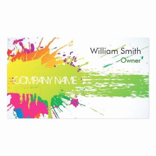 Painting Business Cards Ideas Inspirational Create Your Own Painter Business Cards Page6