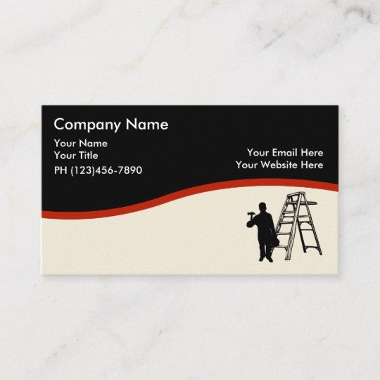 Painting Business Cards Ideas Inspirational House Painter Design Business Card
