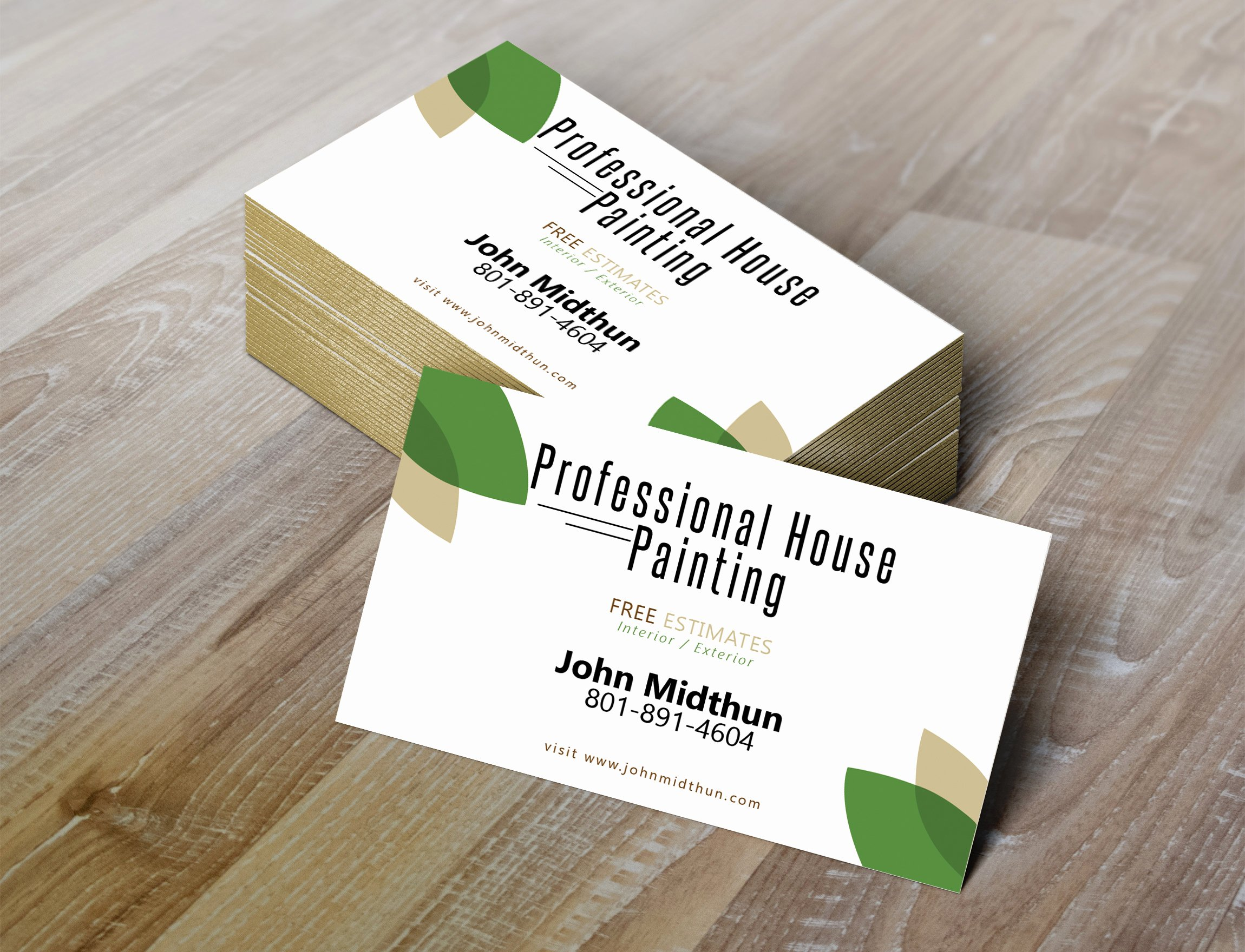 Painting Business Cards Ideas New Professional House Painting Business Card