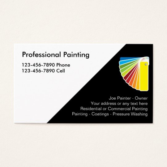 Painting Business Cards Ideas New Professional Painter Business Cards