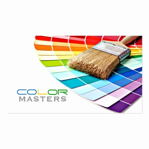 Painting Business Cards Ideas Unique Painting Painter Construction Design Pack Standard Business Cards