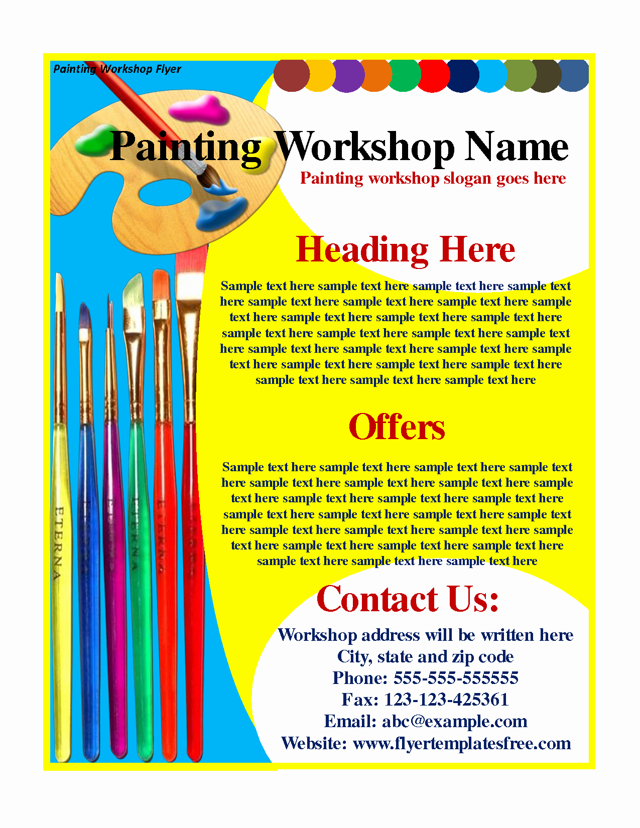 Painting Flyers Templates Free Awesome Flyer Design Gallery Category Page 4 Designtos