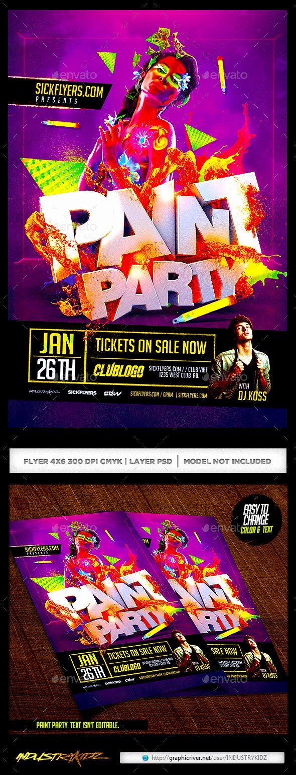 Painting Flyers Templates Free Awesome Free Printable Glow In the Dark Party Invitations