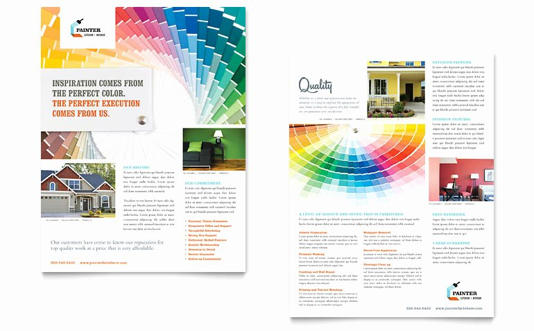 Painting Flyers Templates Free Beautiful House Painting Contractor Datasheet Template Word