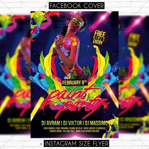 paint party premium flyer template
