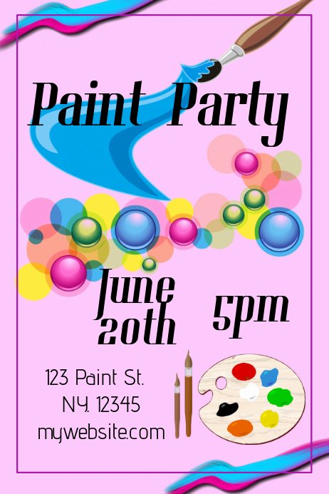 Painting Flyers Templates Free Fresh Paint Party Template