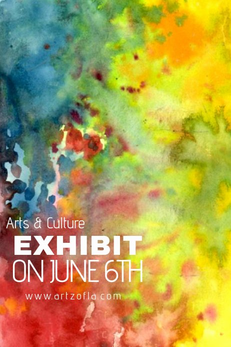 Painting Flyers Templates Free Fresh Paint Splash Watercolor Art Culture Exhibit Flyer Ad