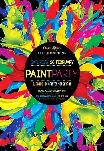 Painting Flyers Templates Free Inspirational Paint Party V03 – Flyer Psd Template – by Elegantflyer