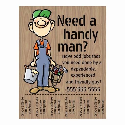 Painting Flyers Templates Free Lovely Carpenter Handyman Plumber Painter Earn Money Flyer