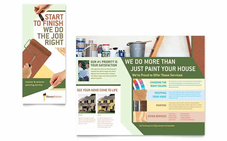 Painting Flyers Templates Free Lovely Painter & Painting Contractor Brochure Template Word
