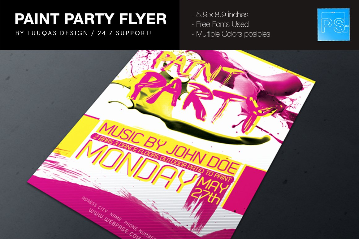Painting Flyers Templates Free Luxury Paint Party Flyer Poster Flyer Templates On Creative