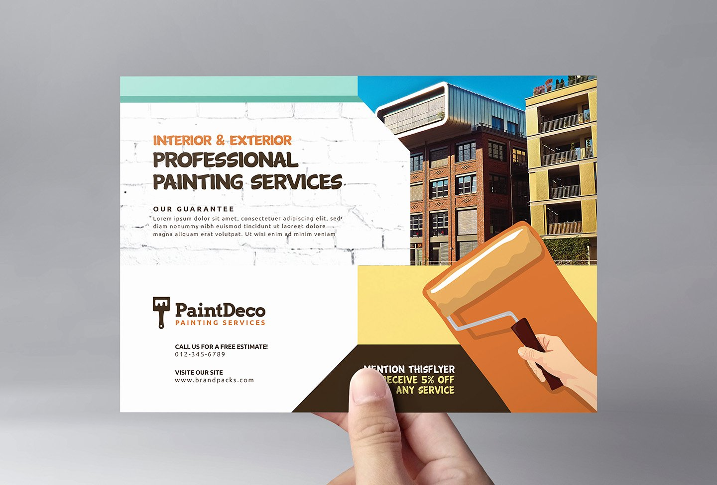 Painting Flyers Templates Free Luxury Painter & Decorator Flyer Template In Psd Ai & Vector