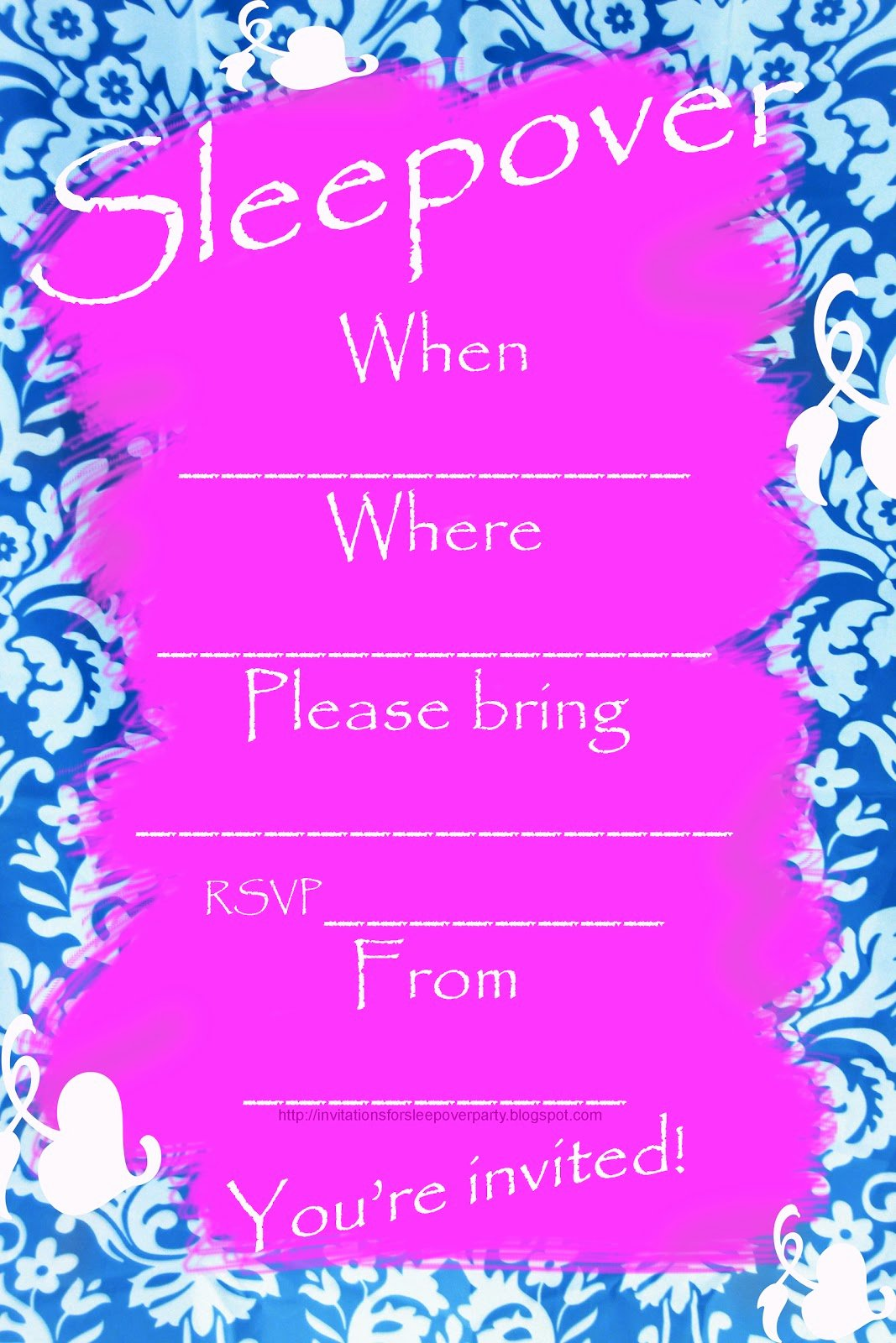 Pajama Party Invitations Free Printable Awesome Invitations for Sleepover Party