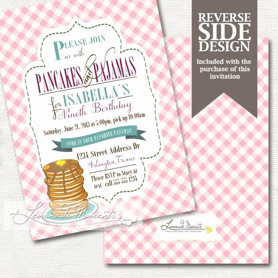 Pajama Party Invitations Free Printable Awesome Pancakes and Pajamas Party Invitation Pj Slumber Party Invite Printable