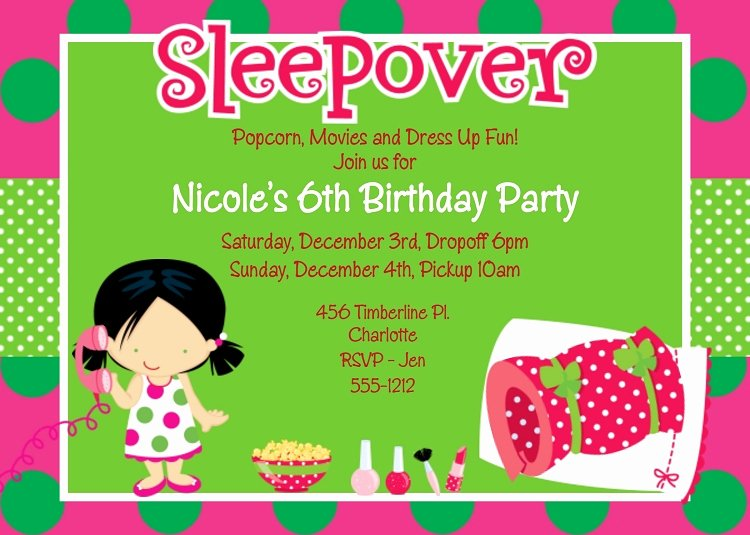 Pajama Party Invitations Free Printable Beautiful Pajama Party Birthday Invitations