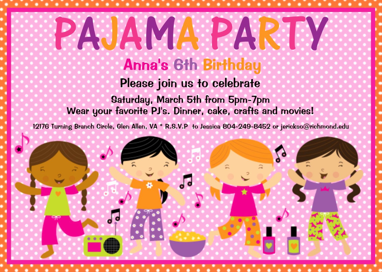 Pajama Party Invitations Free Printable Elegant Pajama Party Birthday Invitation Sleepover Birthday